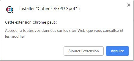 Tuto RGPD Spot - Installation extension Google Chrome