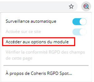Tuto RGPD Spot - Activation extension Google Chrome